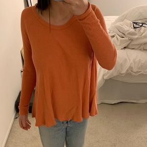 Free People Cozy Thermal Top in Coral